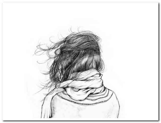 drawing-of-girl-holding-hair