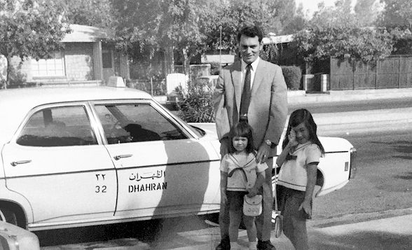 Dhahran taxi with Dad and Sis Cropped