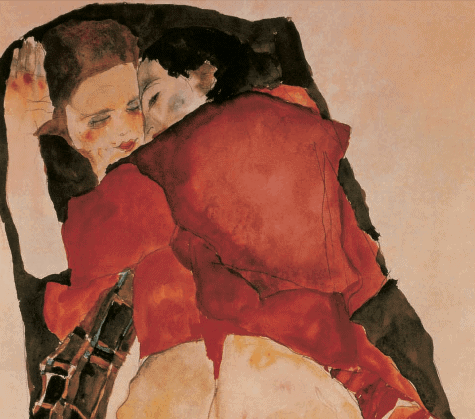 egon-schiele-two-girls-lovers-1
